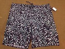 Mossimo Men's Casual Shorts 100% Linen Navy Green Print Size Large NWT