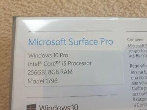 "Microsoft Surface Pro 5 Model 1796 LTE Intel Core I5 12.3"" 256gb 8gb RAM Sealed"