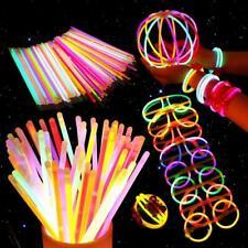 100Pcs Fluorescence Light Glow In Dark Sticks Bracelets Wedding Party Favor Toys