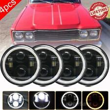 "4pcs 5 3/4"" 5.75 Round LED Headlights Halo HI-Lo Beam Black for Mazda 808 B1600"