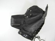 Faux Leather Pup Play Dog Mask / Sensory Deprivation Hood Lace Up Gay BDSM NEW