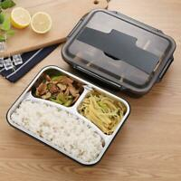 Portable Stainless Steel Bento Lunch Box Container Leak-Proof School Food Case