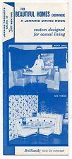 """Vintage Sales Brochure: """"JENKINS DINING NOOKS"""" Furniture [Calif.]"""