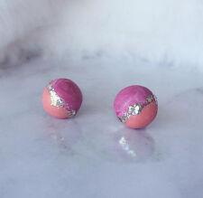 Sparkle Ball Earrings Handmade Polymer Clay Surgical Steel Stud Earring
