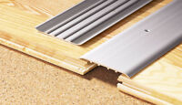 100 CM LENGTH   Aluminium Door Bars Threshold Strip Transition Trim Laminate