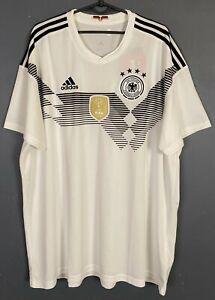 MEN'S ADIDAS GERMANY 2018/2019 DEUTSCHLAND SOCCER FOOTBALL SHIRT JERSEY SIZE 2XL