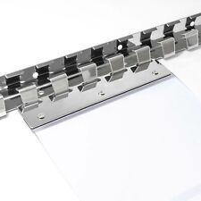 Befestigungsset Edelstahl Hakenleisten Halteplatten für PVC Streifenvorhang ANRO