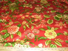 """~9 2/8 YDS~5TH AVE~""""BELVIDERE FLORAL""""COTTON UPHOLSTERY FABRIC FOR LESS~"""