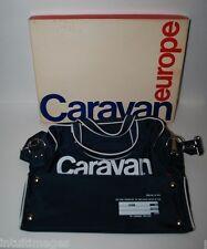 VINTAGE CARAVAN TRAVEL BAG EUROPE  Blue, Shoulder Strap Handles