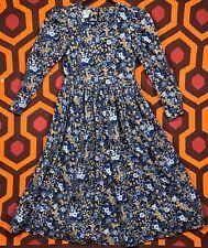 Laura Ashley Vintage Prairie Tea Dress Floral Corduroy USA 6 UK 10