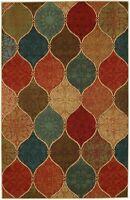 5 x 7 feet Traditional Soft Nylon Area Rug Multicolor Floral Medallion Design