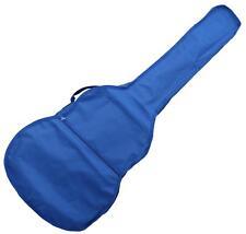 GUITAR BAG TRANSPORT CASE FOR CLASSIC ACOUSTIC GUITARS 4/4 SHOULDER STRAPS BLUE