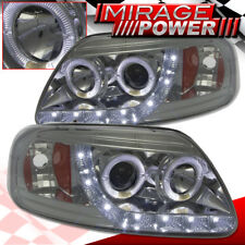 Ford F150 97 98 99 00 02 03 LED Projector Smoked Head Lamps Chrome Housing