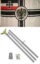 3x5 German World War 1 WWI Imperial Germany Flag Aluminum Pole Kit Set 3'x5'