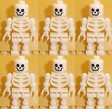 Lego 6 x White Skeletons Minifigures