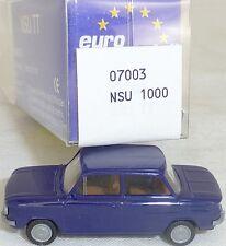 NSU TT Camión Acero Azul Imu / EUROMODELL 07003 H0 1/87 emb.orig # (LL1) å