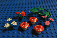 Lego Red 2x2 Mushrooms Plant Flowers Castle City Town Forest Harry Potter