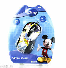 Disney Mickey Cartoon Comic PC Computer Optical USB Mouse - BNIP DSY-MO151 NEW