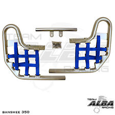 Banshee YFZ 350 YFZ350   Nerf Bars   Alba Racing  Silver Bar Blue Nets 207 T1 SL