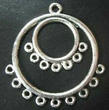20PCS  Tibetan Silver double circle earring links FC519