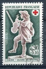 FRANCE TIMBRE OBL N° 1541 VIOLONEUX CROIX ROUGE MUSEE DE DIEPPE
