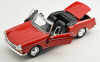 BLITZ VERSAND Peugeot 404 Cabrio Cabriolet  rot red 1:24 Welly Modell NEU & OVP