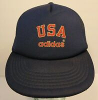 Old Vintage 1984 USA Olympic Team Adidas Athletic Shoes SNAPBACK TRUCKER HAT CAP
