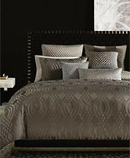 Hotel Collection Queen DIMENSIONS DUVET & SHAMS Brown Woven Jacquard $575 New