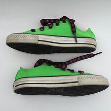 CONVERSE ALL STAR junior's  green canvas walking shoes size--2