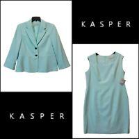 Kasper Women Career Formal Sleeveless Dress & Blazer  Size 14P