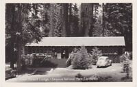 GIANT FOREST LODGE Sequoia National Park California - 1940s RPPC * Mint Cond.