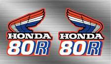 1985 85' honda CR80r CR tank graphics vintage 2pc Decal Sticker