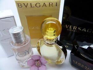 Christian DIOR~ BVLGARI Goldea~VERSACE WOMEN edt MINI Miniature PERFUME Gift SET