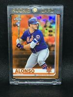 #/25! 🚨2019 Topps Chrome Orange Refractor Pete Alonso RC Mets Rookie #204