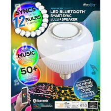 Blue Sky Color Changing  Bulb w/ Built In Bluetooth Speaker Sync up to 12  65-Wa