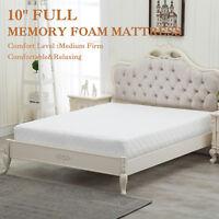 "10"" Inch Full Size COOL & GEL Memory Foam Mattress Medium Firm Bedroom"
