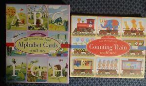 eeBoo Alphabet Cards & Counting Train Nursery Classroom Homeschool Wall Art