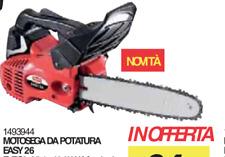 MOTOSEGA DA POTATURA EASY 26 VALEX 1493944 LAMA 30 CM PICCOLA TAGLIA LEGNA COMP.