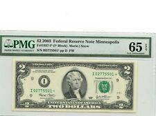 $2 DOLLARS 2003   FEDERAL RESERVE STAR  NOTE  LUCKY MONEY VALUE $270