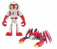 Action Figure Toy - Sonic-Boom - Knuckles + Crabmeat - Spacesuit - Plastic 3in