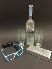 Belvedere vodka set 0,7l frasco + 2 vasos + gafas + luz negra set 40% vol.