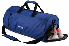 Gym Bag Dry Wet Separated, Carry on Duffle Bag with Shoes Compartment and Should