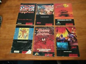 SNES Manual lot - Super Street Fighter 2, Clay Fighter 2, Fighter's History, Max