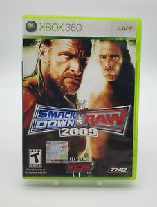 WWE SmackDown vs Raw 2009 — Complete w/ Manual CIB (Xbox 360, 2008)