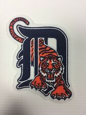 Detroit Tigers Old English D with Tiger Logo Emblem Patch