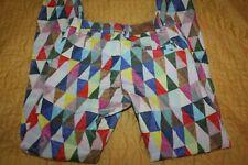 EURO brand OILILY geometric print multicolor soft jeans SIZE 140 10
