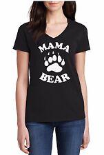 V-neck Mama Bear Shirt T-Shirt For Mom Birthday Bday Gift Tee Mother Mommy