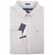 Tommy Hilfiger Men's Long Sleeve Button-Down Striped Casual Shirt - $0 Free Ship