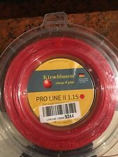 kirschbaum pro line ii RED 12m cut off enough for 1 tennis/squash 1.15 gauge
