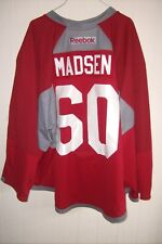 ARIZONA COYOTES Merrick Madsen worn red RBK goalie jersey NOB 2017 rookie camp